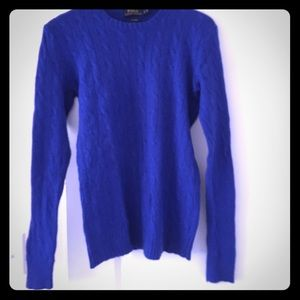Polo ralph lauren cashmere sweater blue